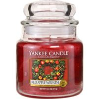 Yankee Candle Company Red Apple Wreath Housewarmer Jar Candle