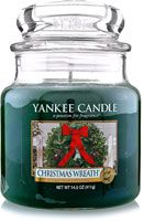 Yankee Candle Company Christmas Wreath Housewarmer Candle