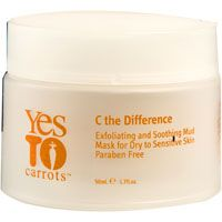 Yes to Carrots C the Difference Exfoliating and Soothing Mud Mask for Dry to Sensitive Skin
