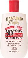 Hawaiian Tropic 30 Plus Sunblock