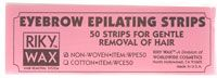 Riky Wax Eyebrow Epilating Strips