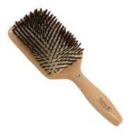 Hana K. Diamond Wood Boar Bristle Square Cushion Brush