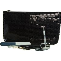 Jasmine La Belle Cosmetics 7 pc Nail Kit with Sequined Pouch