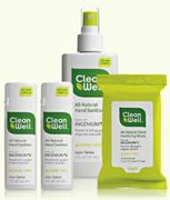 CleanWell All Natural Hand Sanitizers