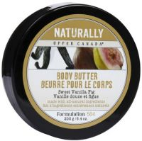 Upper Canada Soap Naturally Body Butter in Sweet Vanilla Fig