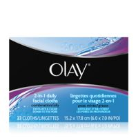 Olay 2-in-1 Daily Facial Cloths - Combination/Oily Skin