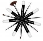 Shany Cosmetics 6PC Professional Nail Brush Set in Black