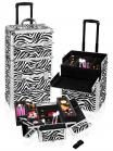 Shany Cosmetics Zebra Trolley case