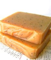 Goat Milk Soap, Ginger Almond Chamomile with Poppy Seeds