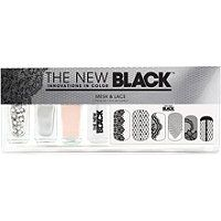 The New Black Mesh & Lace Nail Color & Accessories Set