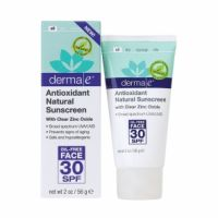 Derma E Antioxidant Natural Sunscreen SPF 30 Oil-Free Face Lotion