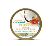 OGX Quenching Coconut Curls Curling Butter Leave In or Rinse Out