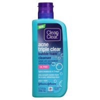 Clean & Clear Acne Triple Clear Bubble Foam Cleanser