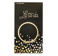 La-ta-da Brushed Gold Circle Barrette