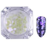 Born Pretty Transparent Chameleon Nail Sequins Paillette Manicure Nail Art Decoration