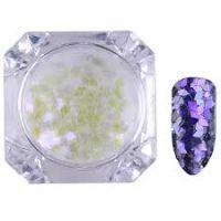 Born Pretty Transparent Chameleon Nail Sequins Paillette Manicure Nail Art Decoration