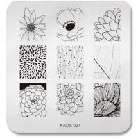 KADS Hot Beauty Lotus Pattern Stamp Stencil