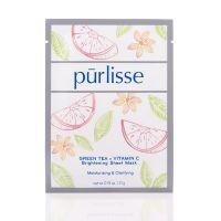 Purlisse Green Tea + Vitamin C Brightening Sheet Mask