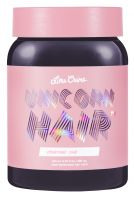 Lime Crime Unicorn Hair On Mute Grey Color Mixer