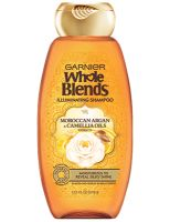Garnier Whole Blends Illuminating Shampoo with Moroccan Argan and Camellia Oils Extracts