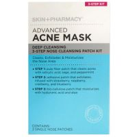 Skin + Pharmacy Advanced Acne Mask Deep Cleansing 3-Step Nose Cleansing Patch Kit