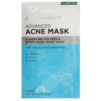 Skin + Pharmacy Advanced Acne Mask Clarifying Tea Tree & Witch Hazel Sheet Mask