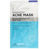 Skin + Pharmacy Advanced Acne Mask Detoxifying Charcoal Sheet Mask