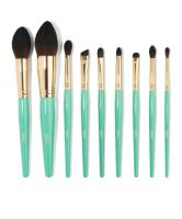 Juvia's Place Turquoise Blue 9pcs Brush Set