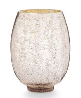 Illume Holiday Shine Large Crackle Glass