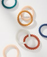 Anthropologie Rubberized Coil Hair Tie Set