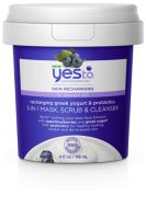 Yes To Superblueberries Recharging Greek Yogurt & Probiotics 3-in-1 Mask, Scrub & Cleanser