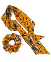 Chelsea King Floral Amber Scrunchie + Scarf Set