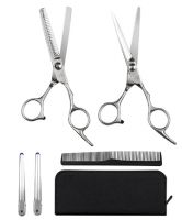 Elfina Hair Cutting Shears/Scissors and Professional Barber Thinning/Texturizing Set