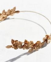 Urban Outfitters Golden Flower Halo Headband