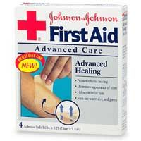 Johnson's First Aid Advanced Care, Advanced Healing Adhesive Pads